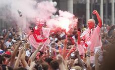 Tensión y vandalismo en los aledaños de Wembley