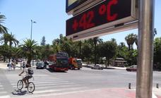 Los termómetros pueden llegar hoy a los 42 grados en Málaga, en aviso naranja por calor