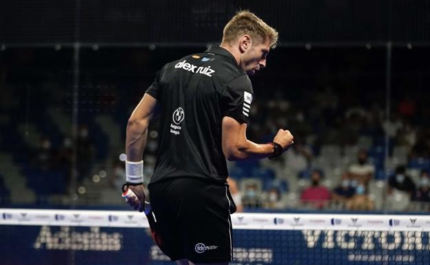 A Álex Ruiz se le vio ayer muy motivado ante su público, que vio como ganaba el partido de primera ronda/WPT