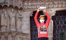 Roglic exhibe su poderío en la contrarreloj de Burgos