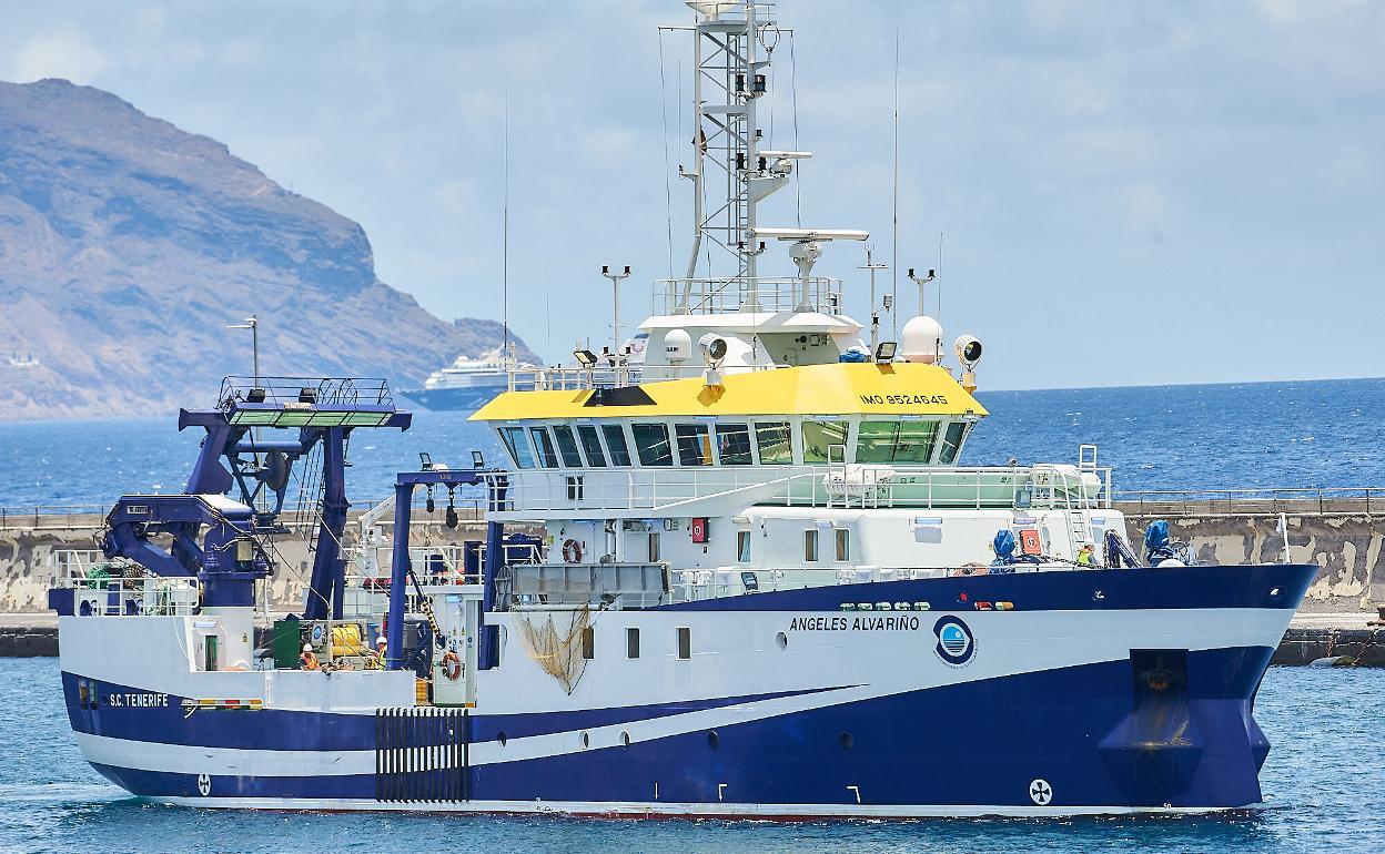 El buque Ángeles Alvariño llega a Málaga tras estudiar los hábitats  profundos del mar de Alborán   Diario Sur