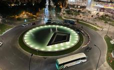 La Junta deja en manos del Ayuntamiento de Málaga completar con una escultura la nueva fuente en la plaza de la Solidaridad