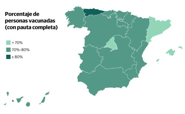 Así avanza la vacunación contra el coronavirus en España y en el mundo