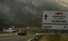 Lugo sufre el primer gran incendio del año en Galicia