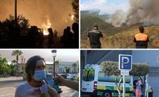 La última hora del incendio de Málaga y los datos de hoy de la quinta ola del coronavirus