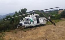 Accidente de un helicóptero Superpuma del Infoca, aunque sus 19 ocupantes salen ilesos