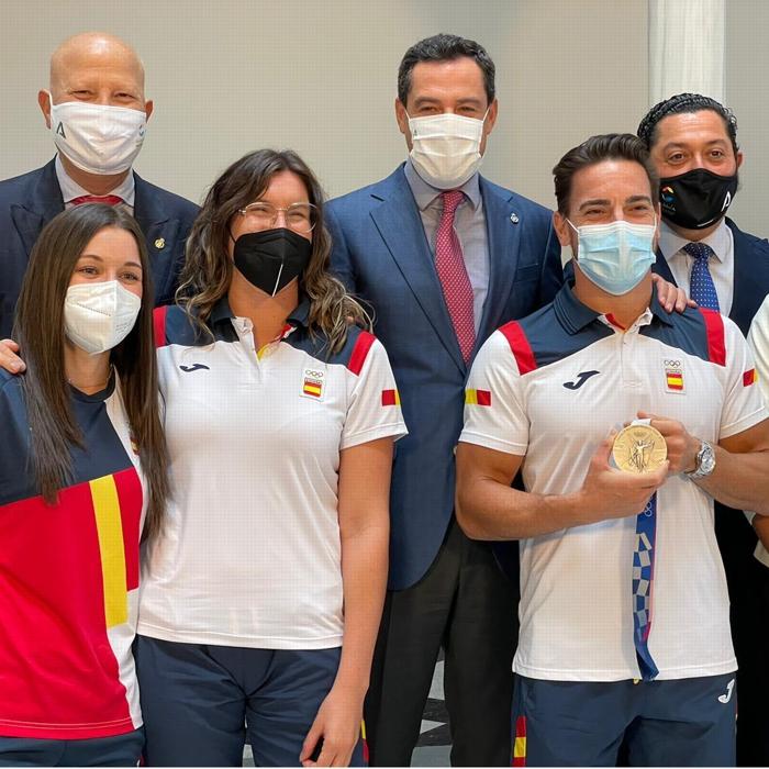 La Junta homenajea a los olímpicos andaluces en Tokio 2020