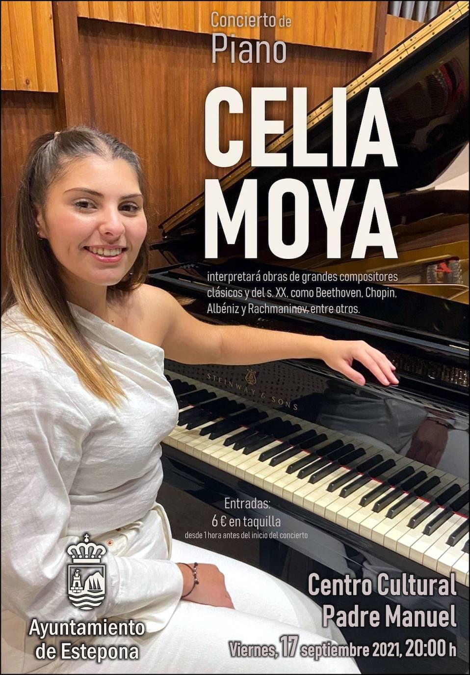 La pianista Celia Moya ofrecerá un concierto solidario este viernes a beneficio de la recuperación de Sierra Bermeja