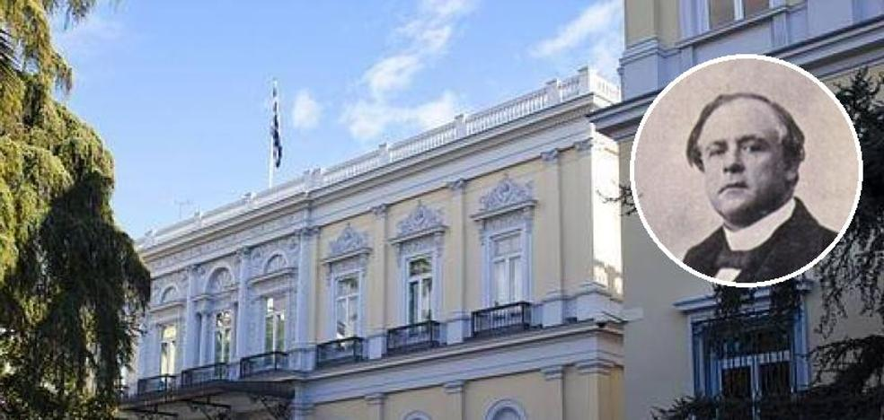 Palacio del marqués de Salamanca, en Madrid, junto con el retrato del marqués