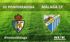 Abultada derrota del Málaga ante la Ponferradina (4-0)