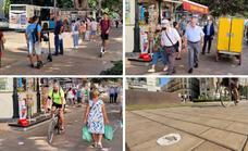 Carril bici de la Alameda Principal de Málaga: 440 metros de obstáculos y escasa señalización