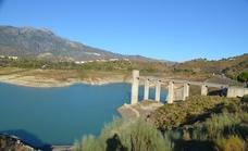 Ejecutan obras de emergencia para mejorar las presas de derivación y los túneles del embalse de La Viñuela