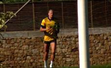 El delantero noruego Haaland se recupera de su lesión en Marbella