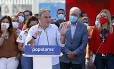El PP de Málaga saca bandera para conmemorar el Día de la Hispanidad