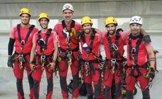 Los bomberos de Málaga ganan una competición internacional de rescate en altura