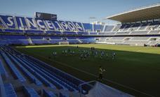 El Málaga organiza un entrenamiento a puertas abiertas en La Rosaleda para el Día de la Hispanidad