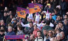 El Barça jugó en el Camp Nou con riesgo para el público