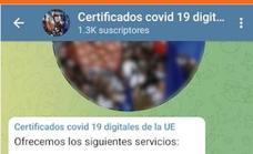 Alertan de grupos que ofrecen certificados Covid o PCR negativas falsas por 150 euros