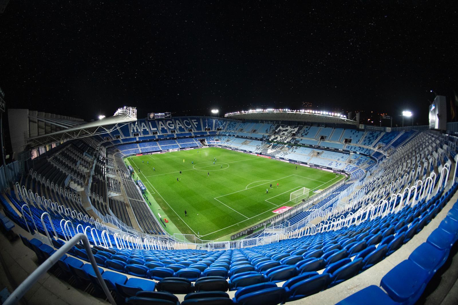 Horarios fijados para los partidos del Málaga contra el Oviedo y el filial de la Real Sociedad