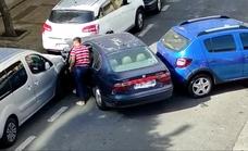 Detienen al conductor que estrelló un coche robado contra seis vehículos aparcados en Martiricos y salió corriendo