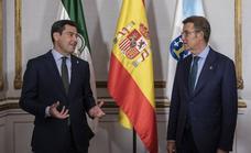 Juanma Moreno y Alberto Núñez Feijóo reclaman que el nuevo sistema de financiación se pacte con todas las autonomías
