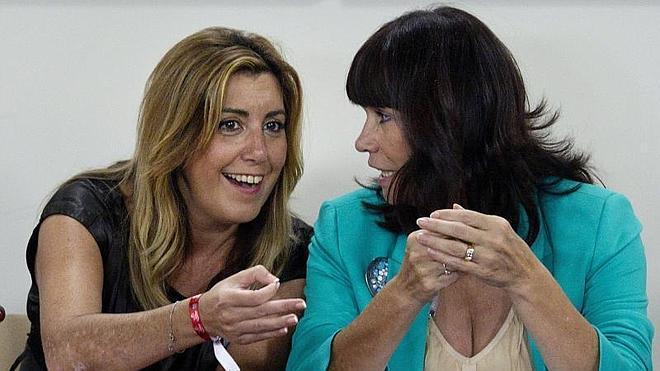 Susana Díaz apoya a Sánchez y niega que vaya a presentarse a las primarias