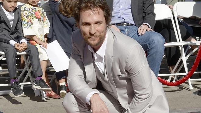 Matthew McConaughey ya tiene su estrella en el Paseo de la Fama