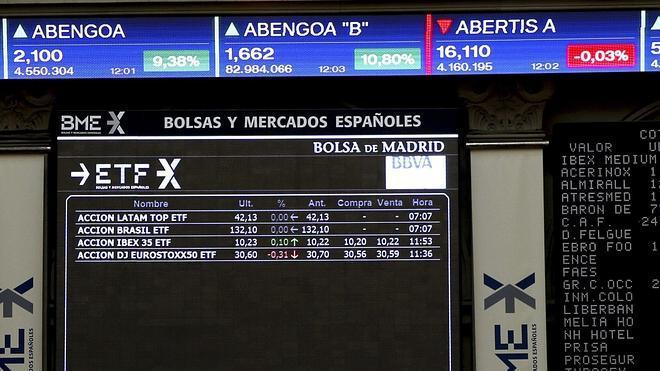 El Ibex retrocede un 0,49% y cierra por debajo de los 10.700 enteros
