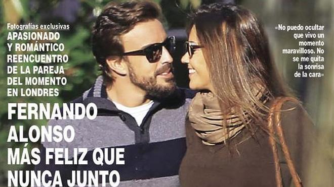 Fernando Alonso y Lara Álvarez pasean su amor por Londres