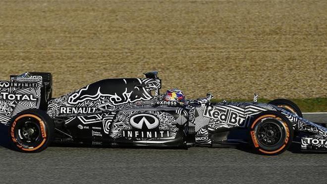 Red Bull se viste de cebra para los primeros test
