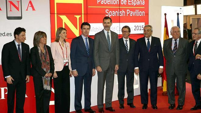 El Rey inaugura el Mobile World Congress