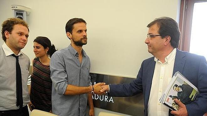 Las conversaciones entre PSOE y Podemos en Extremadura, públicas en vídeo