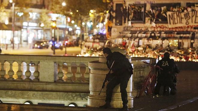 Estampida humana en la plaza de La República