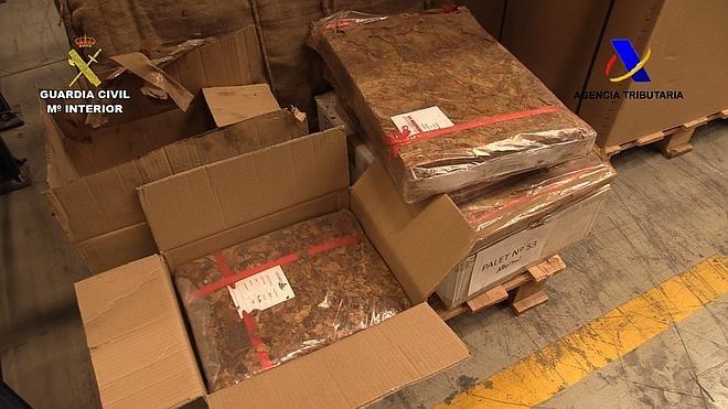 Incautadas más de 41 toneladas de tabaco de contrabando en la mayor aprehensión realizada en España