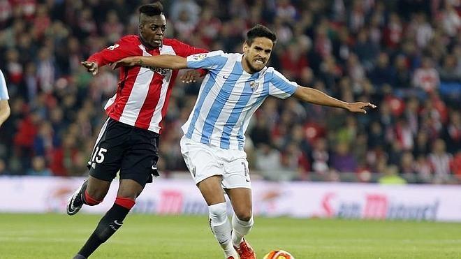 El Athletic aguanta en inferioridad a un Málaga romo en ataque