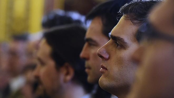 El día de la Constitución reúne por primera vez a Rajoy, Sánchez, Rivera e Iglesias