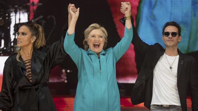Las famosas que hacen campaña con Hillary Clinton