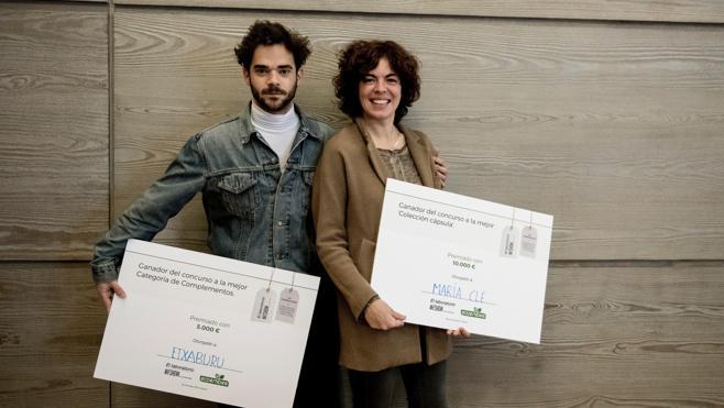 María Clè y Etxaburu, ganadores del certamen de moda sostenible