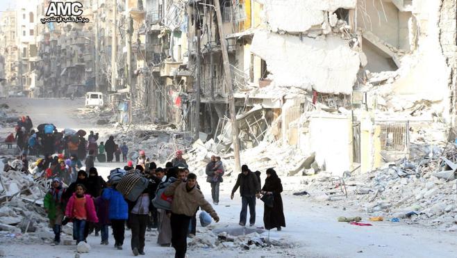 El régimen sirio controla ya más de la mitad de la zona rebelde de Alepo