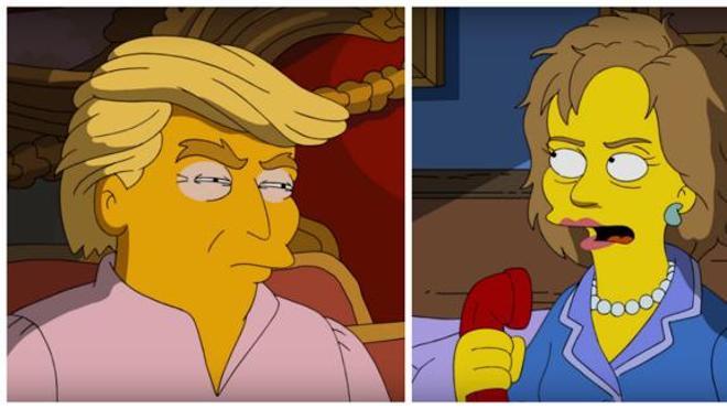 Los Simpson predijeron que Trump sería presidente hace 16 años