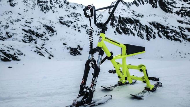Bicicletas sobre nieve en La Molina