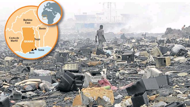 Ghana, el vertedero tecnológico del primer mundo