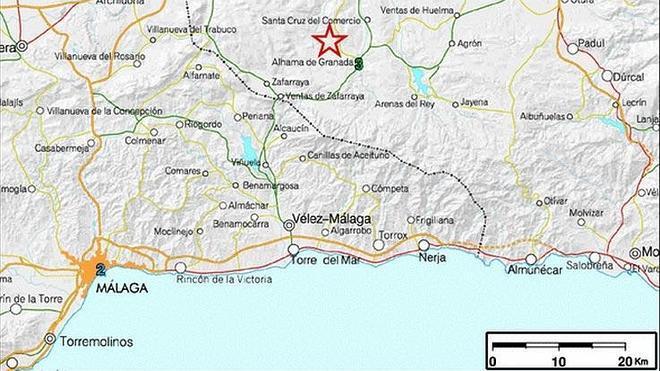 Un seísmo de 3,2 grados con epicentro en Alhama de Granada se deja sentir en Vélez y Canillas de Aceituno