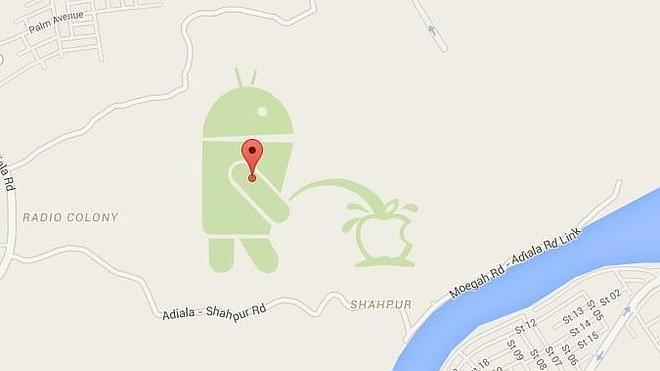 Android se 'mea' en Apple