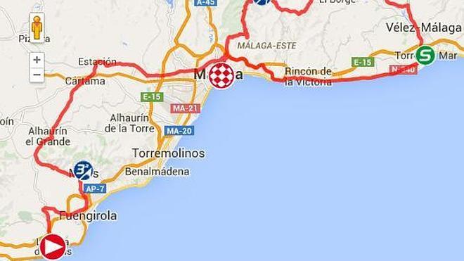 ¿Por dónde pasa la Vuelta Ciclista 2015 en sus cuatro etapas en la provincia Málaga?