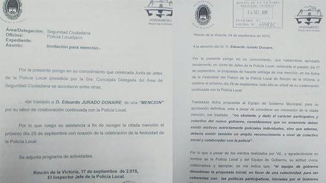 Polémica en Rincón de la Victoria por el rechazo a premiar la colaboración de dos vecinos con la Policía