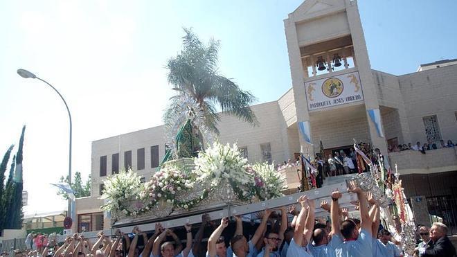 Procesión de la Virgen de la Cabeza en Palma-Palmilla