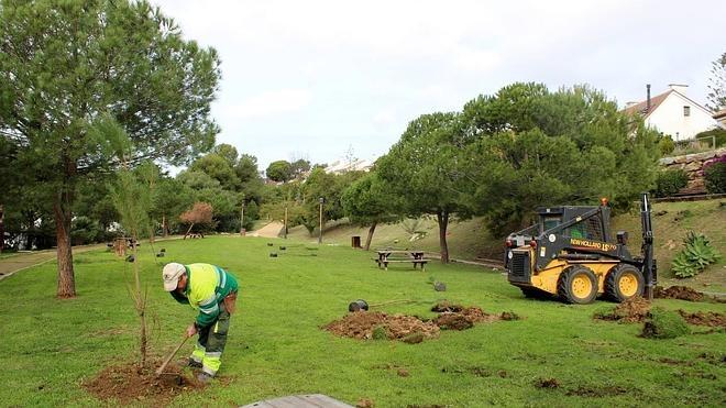 El parque de Seghers de Estepona será repoblado por la aportación voluntaria de turistas