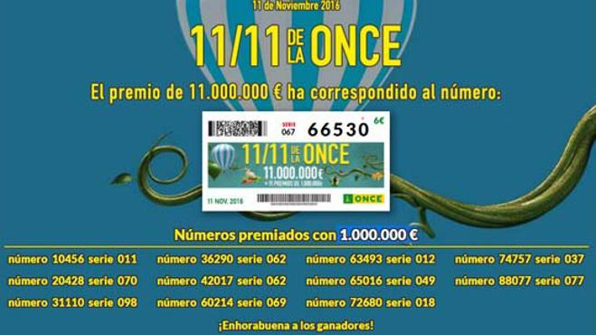 El Sorteo Extraordinario del 11 del 11 de la ONCE deja más de un millón de euros en Málaga