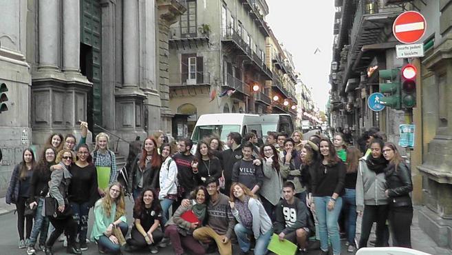 Alumnos y profesores del IES Huelin llevan a Palermo su proyecto Erasmus +